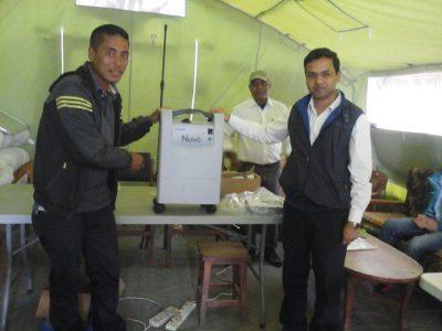 Nepal Aid_Übergabe EKG Gerät
